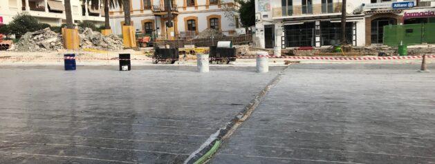 Control Calidad plaza de la iglesia. San Pedro de Alcantara